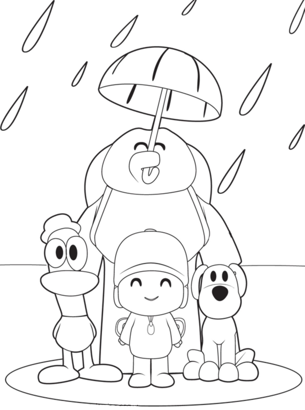 Free printable pocoyo coloring pages for kids Coloring book sheets