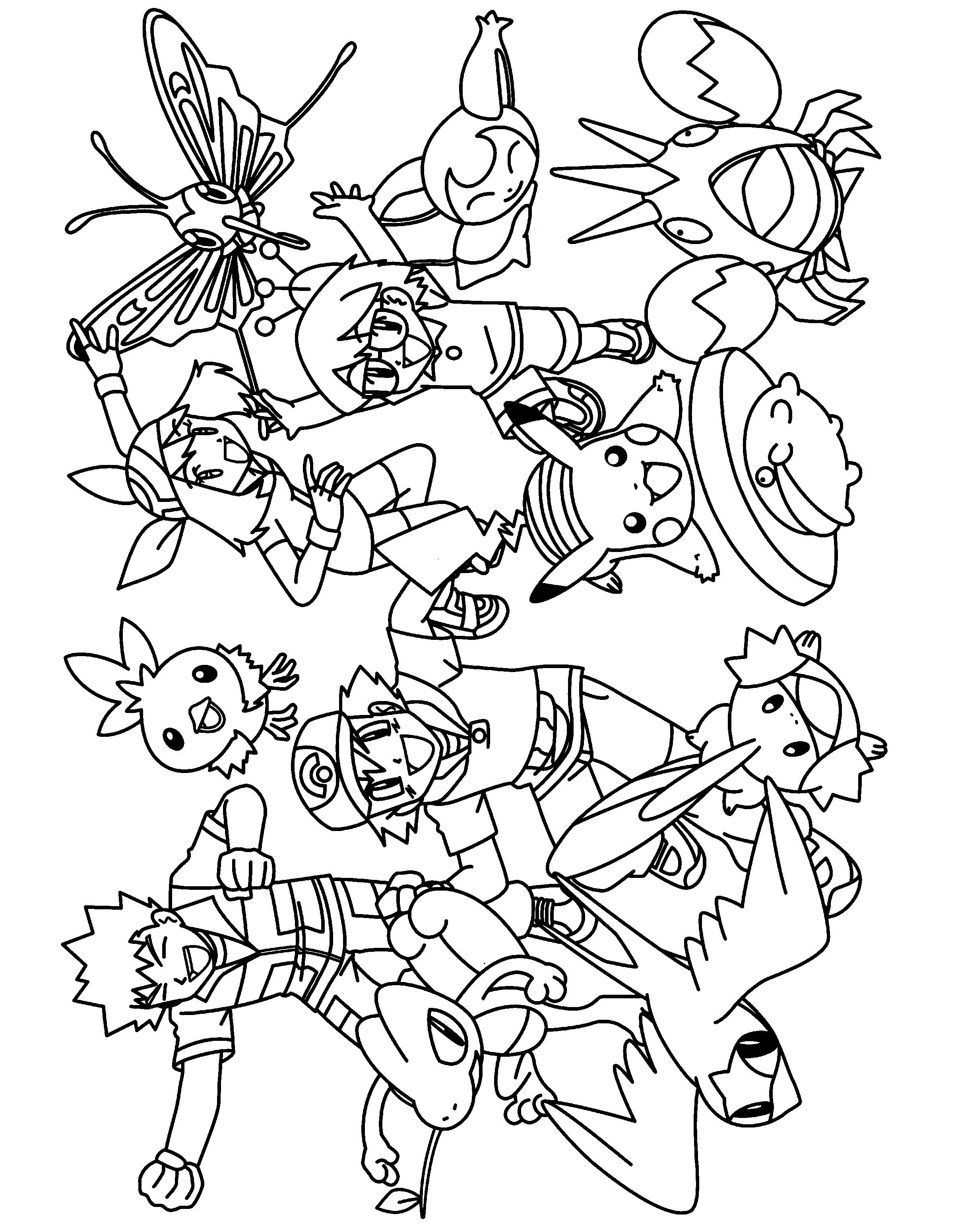 pictures of pokemon characters coloring pages | Pokemon Coloring Pages. Join your favorite Pokemon on an ...