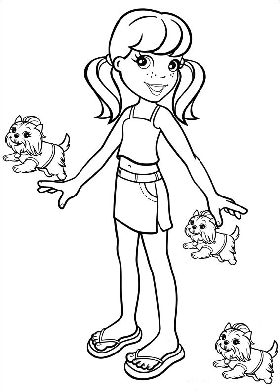 polly pocket coloring pages games - photo#10