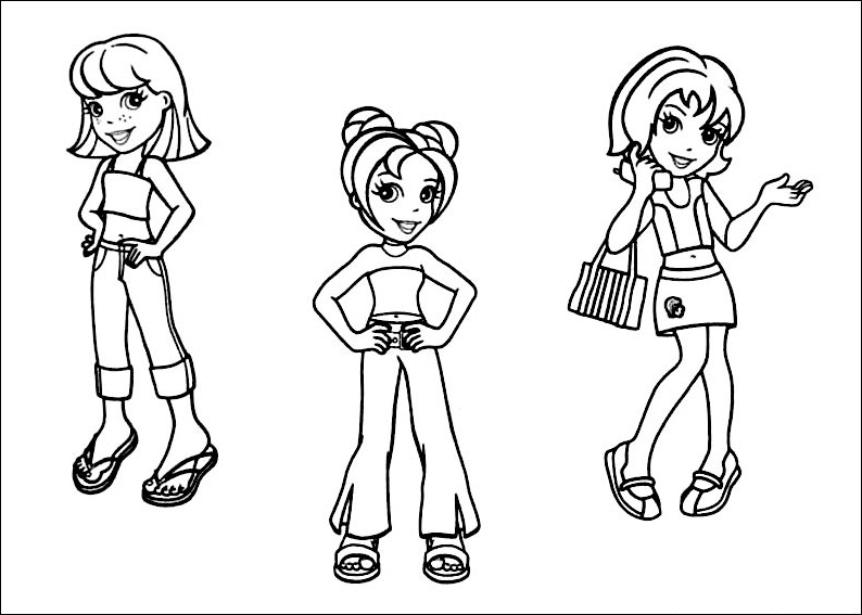 Polly Pockets Coloring Pages