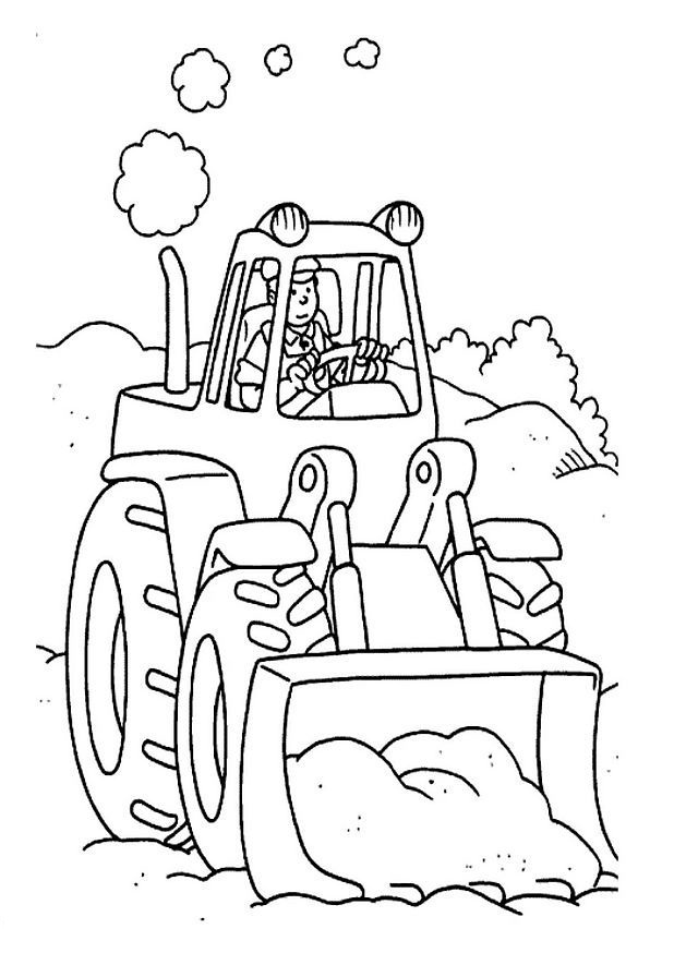 Printable Coloring Pages of Tractor