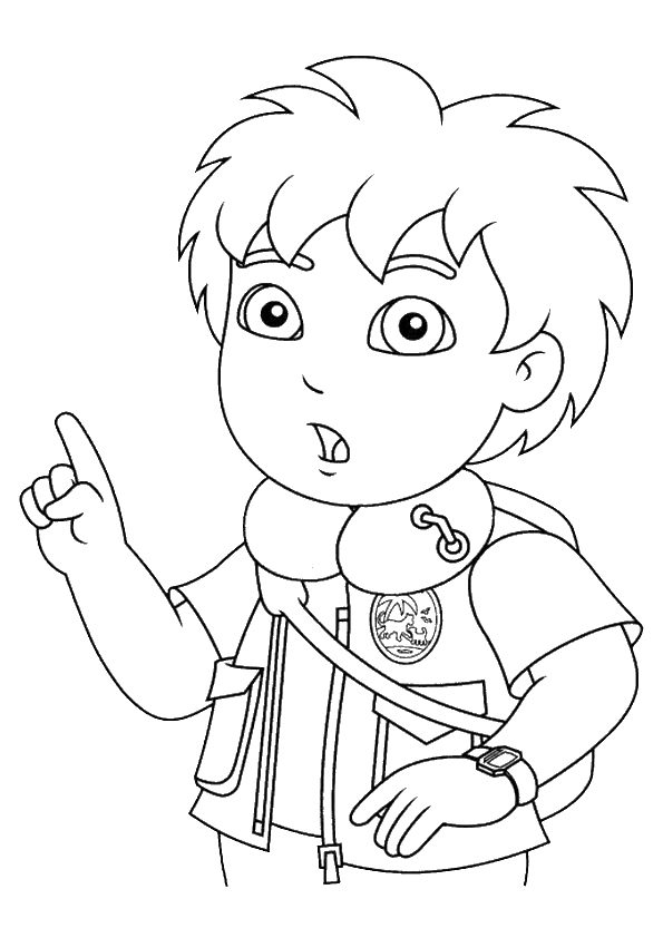 Printable Diego Coloring Pages