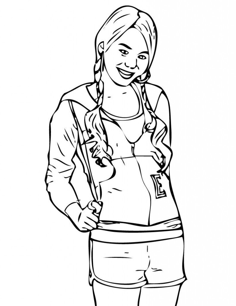 Printable Hannah Montana Coloring Pages For Kids