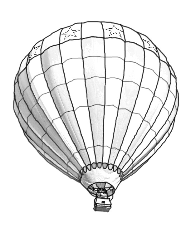 Divine image in hot air balloon printable