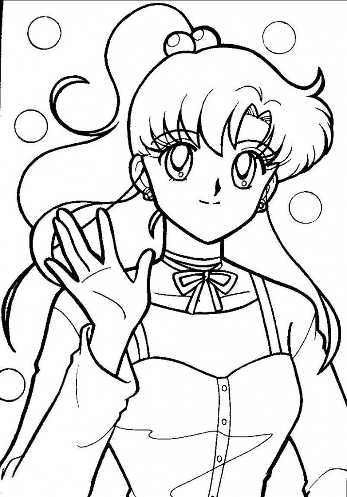Free printable sailor moon coloring pages for kids for Coloring book pages for toddlers