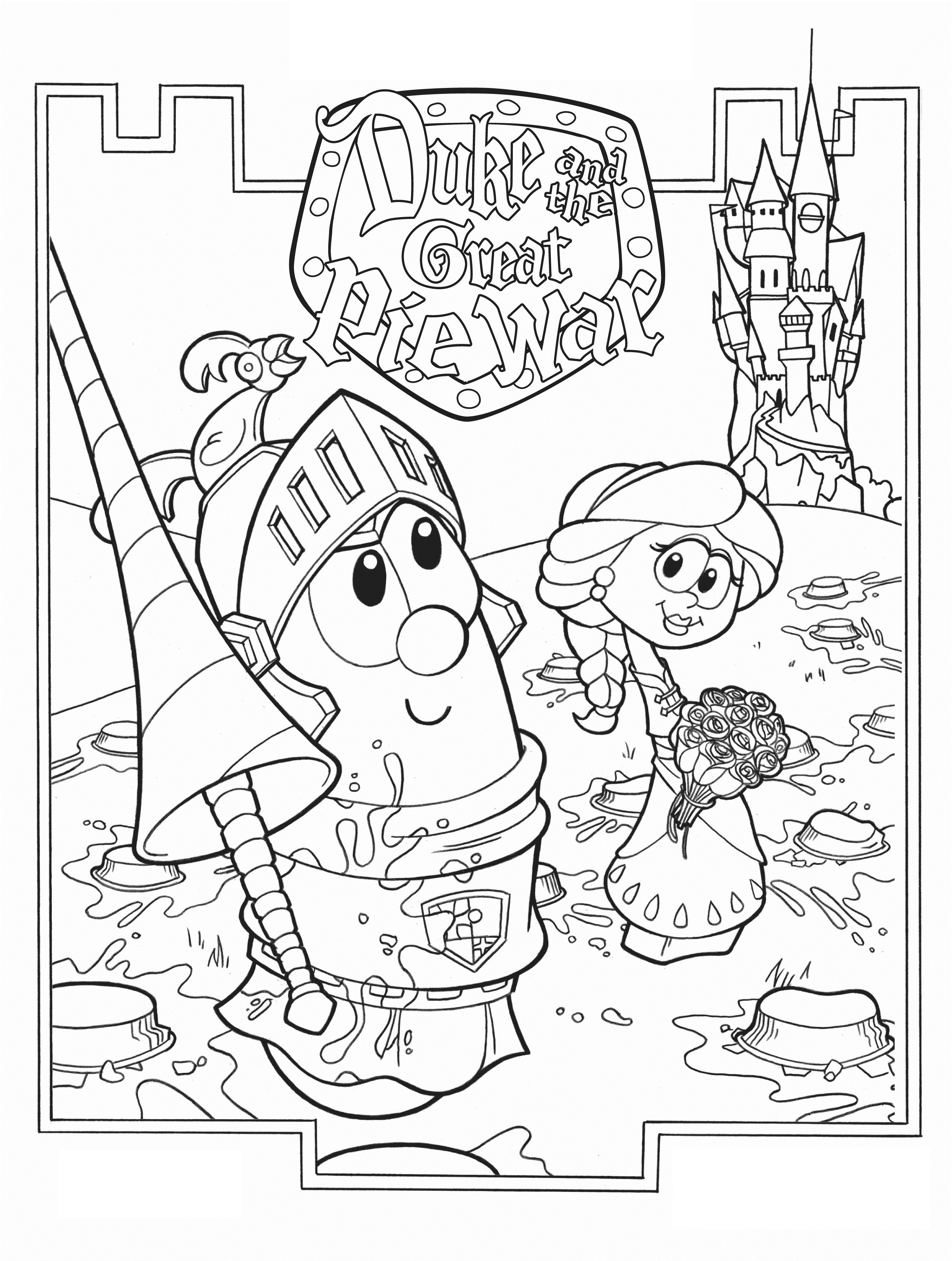 free printable kid coloring pages | Free Printable Veggie Tales Coloring Pages For Kids
