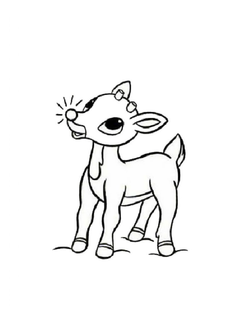 Reindeer Coloring Pages Printable