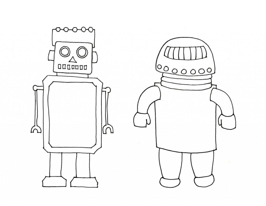 Robot Coloring Pages For Free