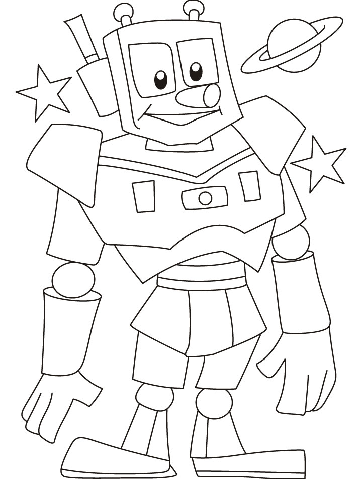 free printable robot coloring pages for kids. Black Bedroom Furniture Sets. Home Design Ideas