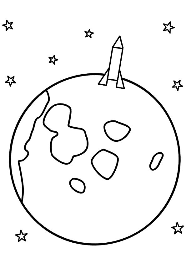 Rocket Ship Coloring Page for Preschool