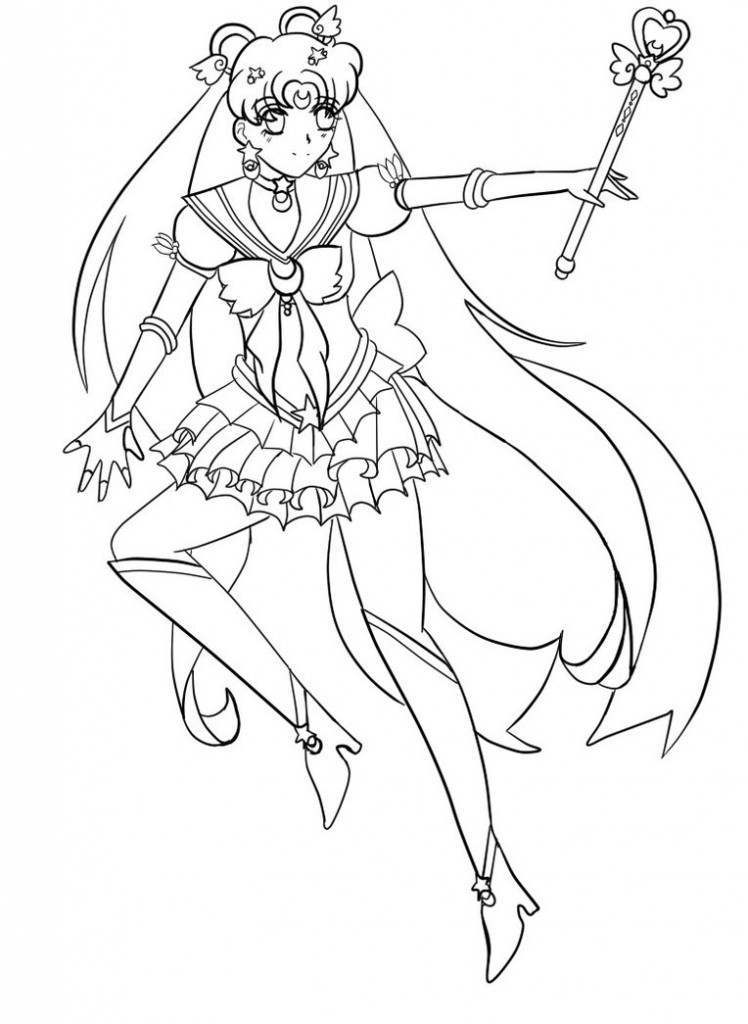 Free Printable Sailor Moon Coloring