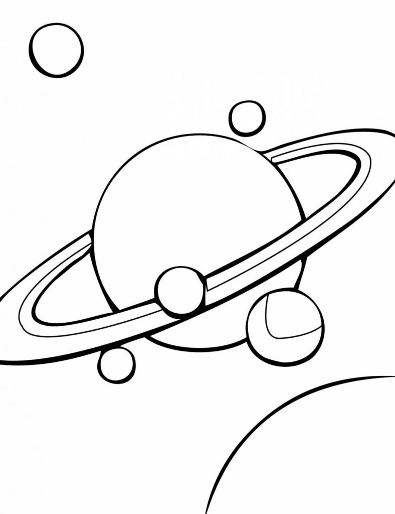 Saturn Coloring page