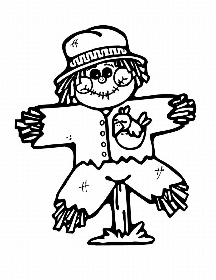 image about Printable Scarecrows identified as Cost-free Printable Scarecrow Coloring Web pages For Children