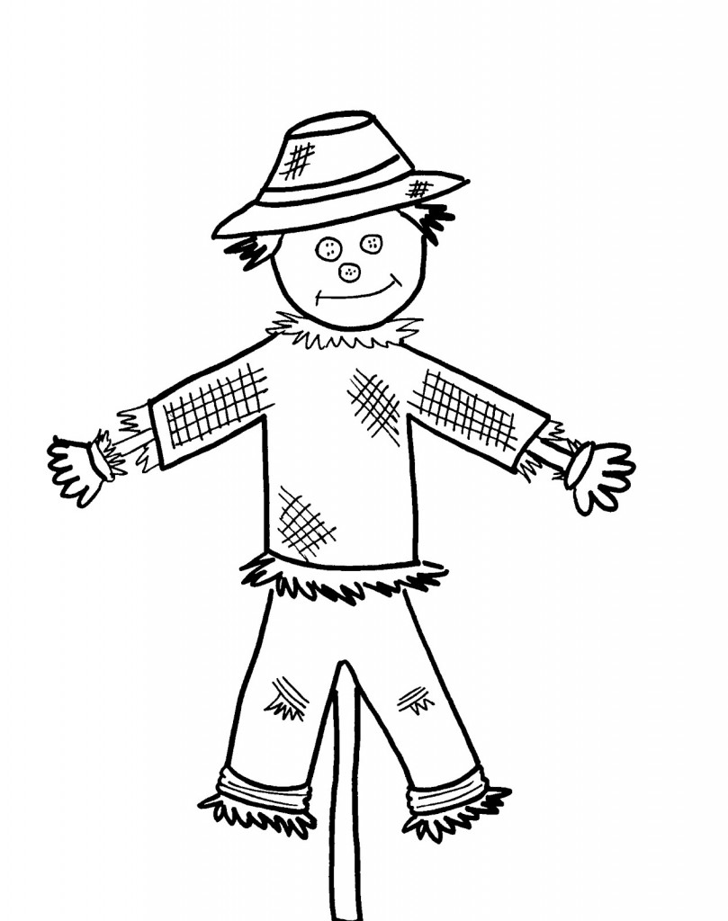 Impeccable image in printable scarecrow coloring pages
