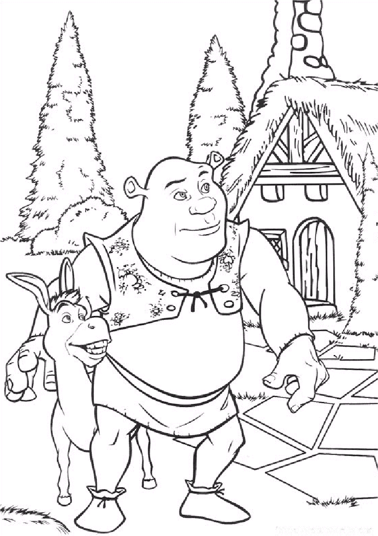 schreak coloring pages free - photo#7