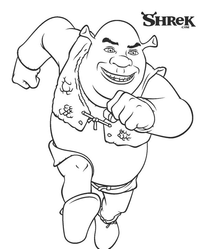 schreak coloring pages free - photo#24