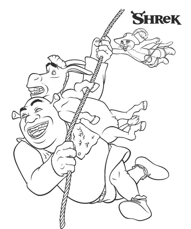 schreak coloring pages free - photo#31