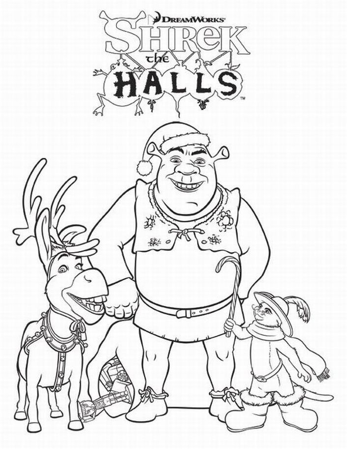 free printable shrek coloring pages for kids - Shrek Coloring Pages