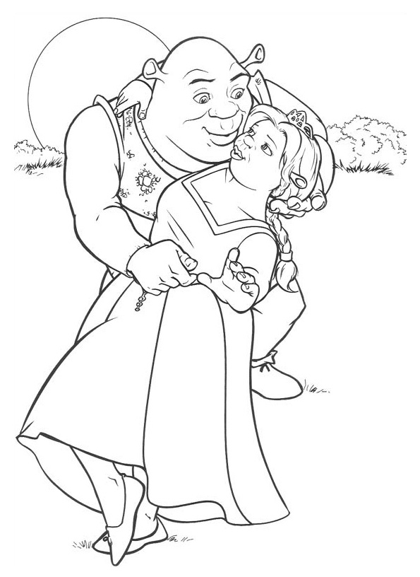 Shrek Coloring Pages Pictures