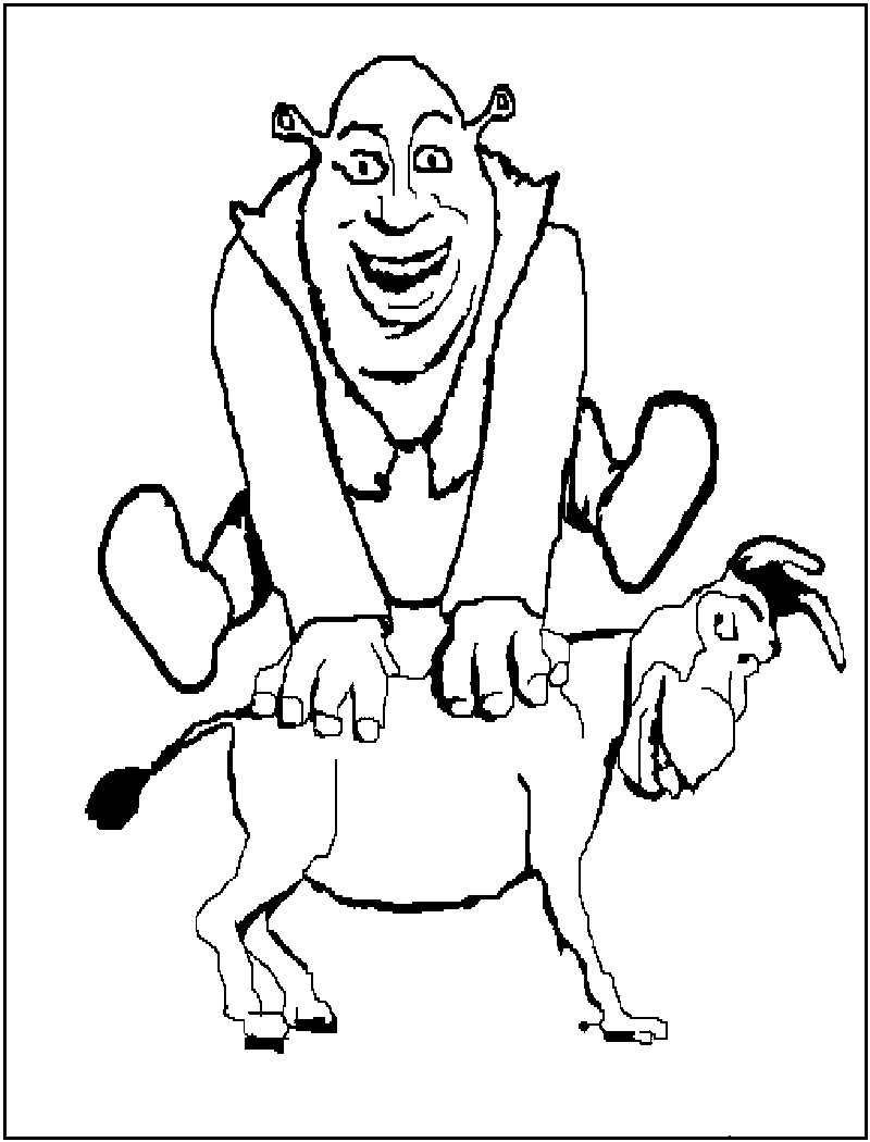schreak coloring pages free - photo#34