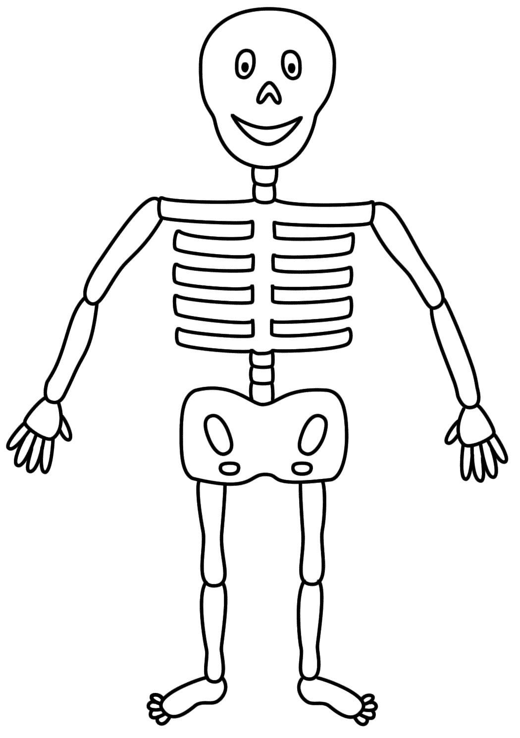 Simple Skeleton Coloring Page
