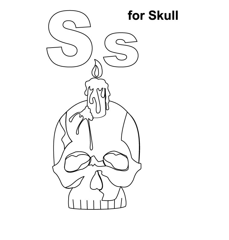 Skull Coloring Pages Pictures