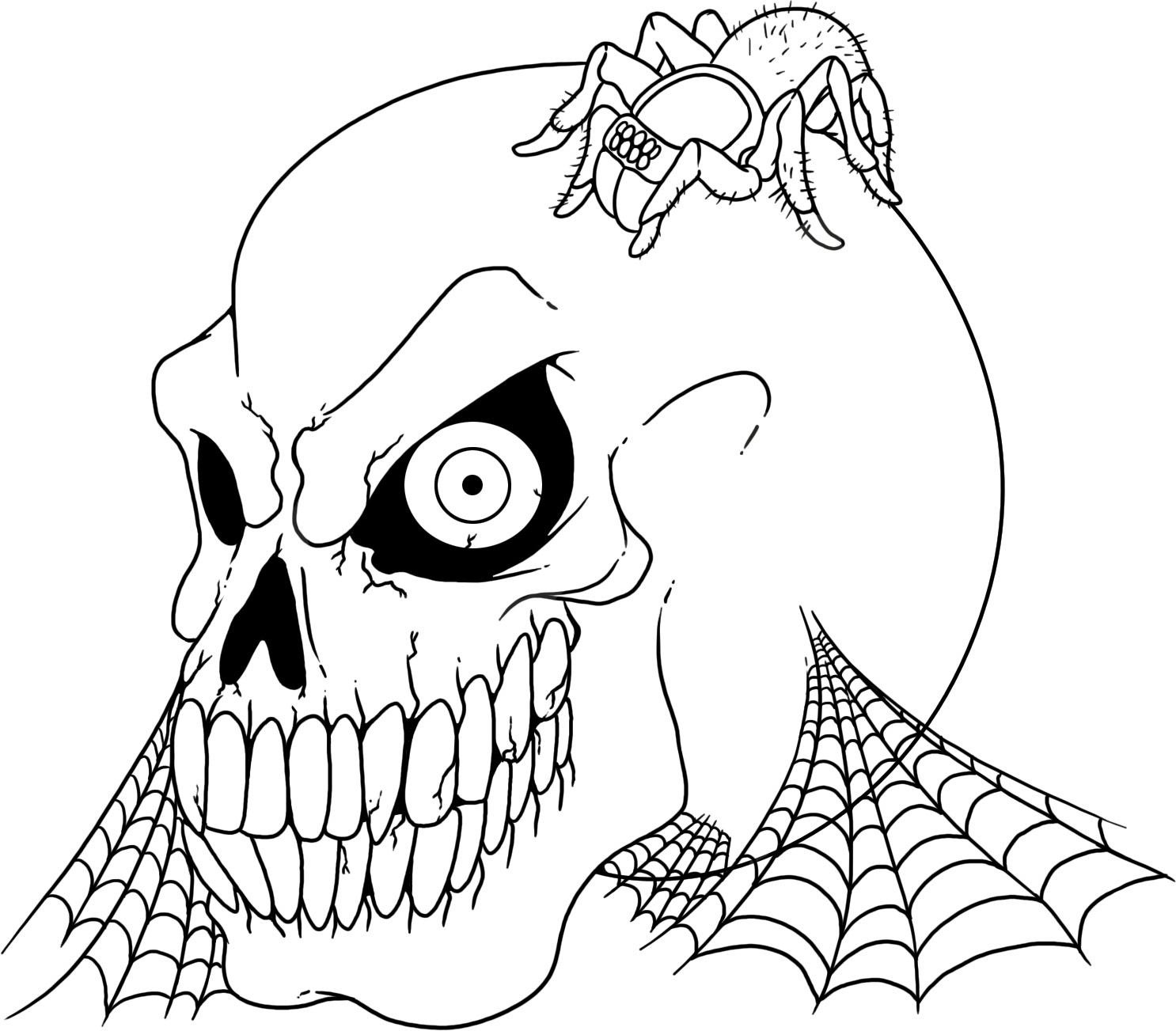 Free printable skull coloring pages for kids for Coloring pages for halloween free printable