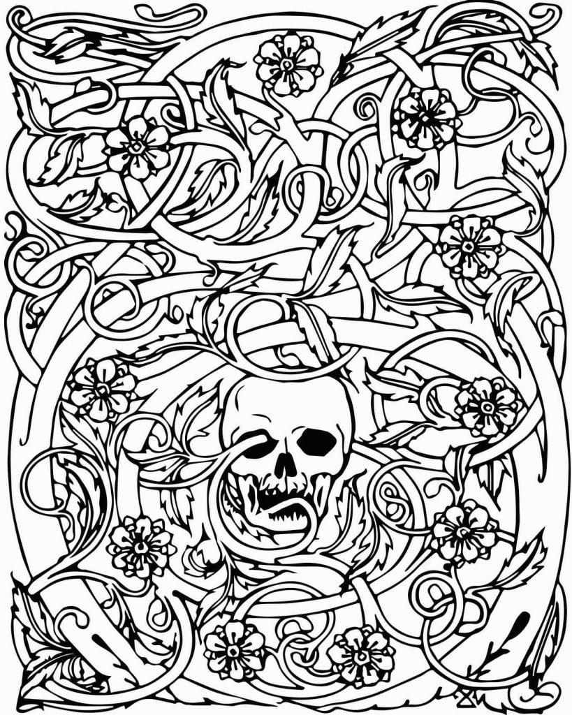 Skull Design Coloring Pages