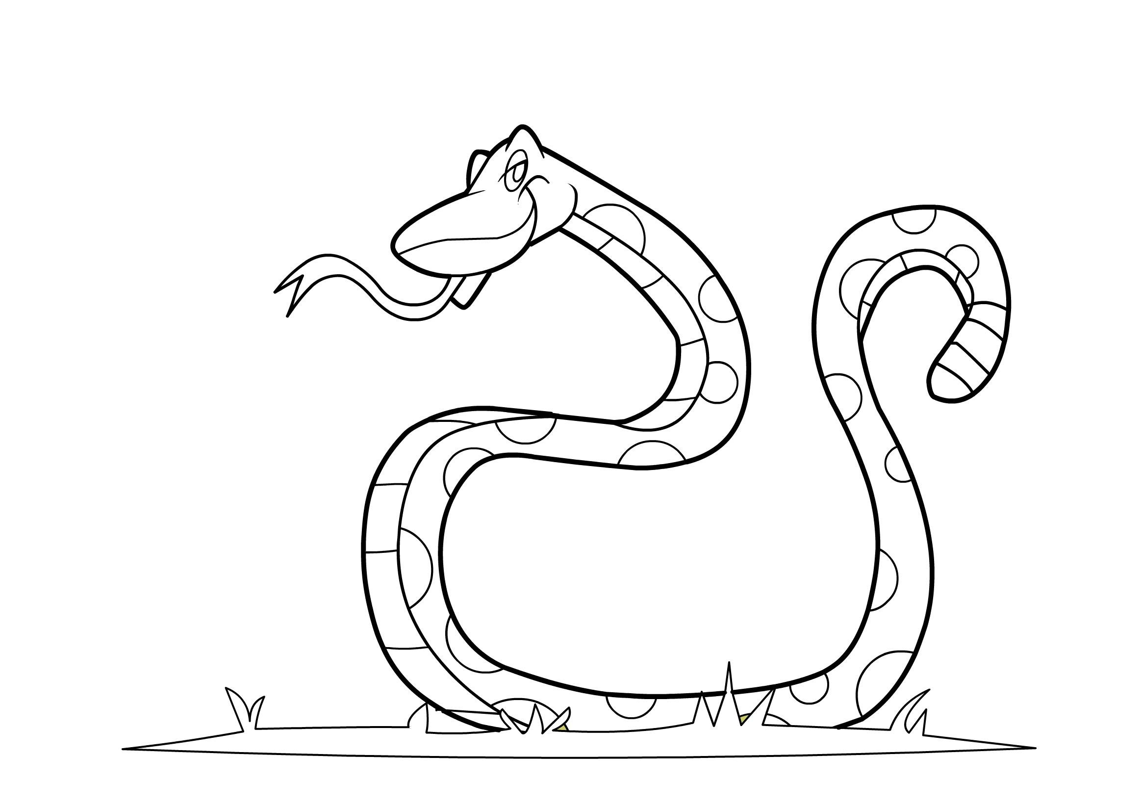 It is a photo of Playful cobra coloring pages
