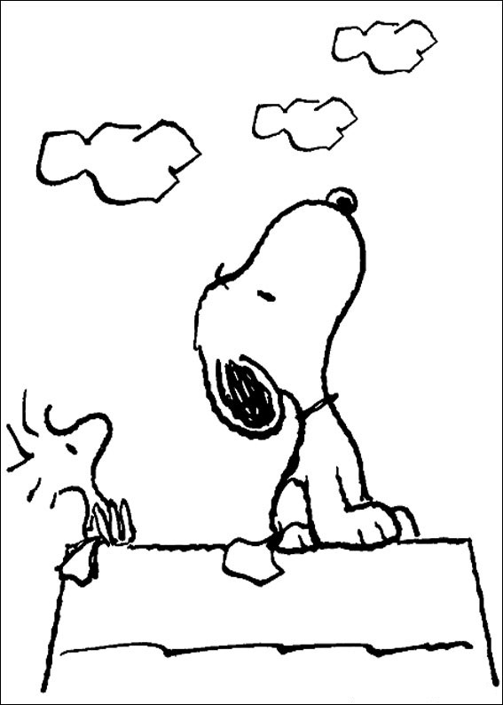 snoopy coloring book pages | Free Printable Snoopy Coloring Pages For Kids