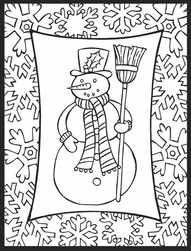 photograph relating to Free Printable Holiday Coloring Pages titled Cost-free Printable Wintertime Coloring Web pages For Children