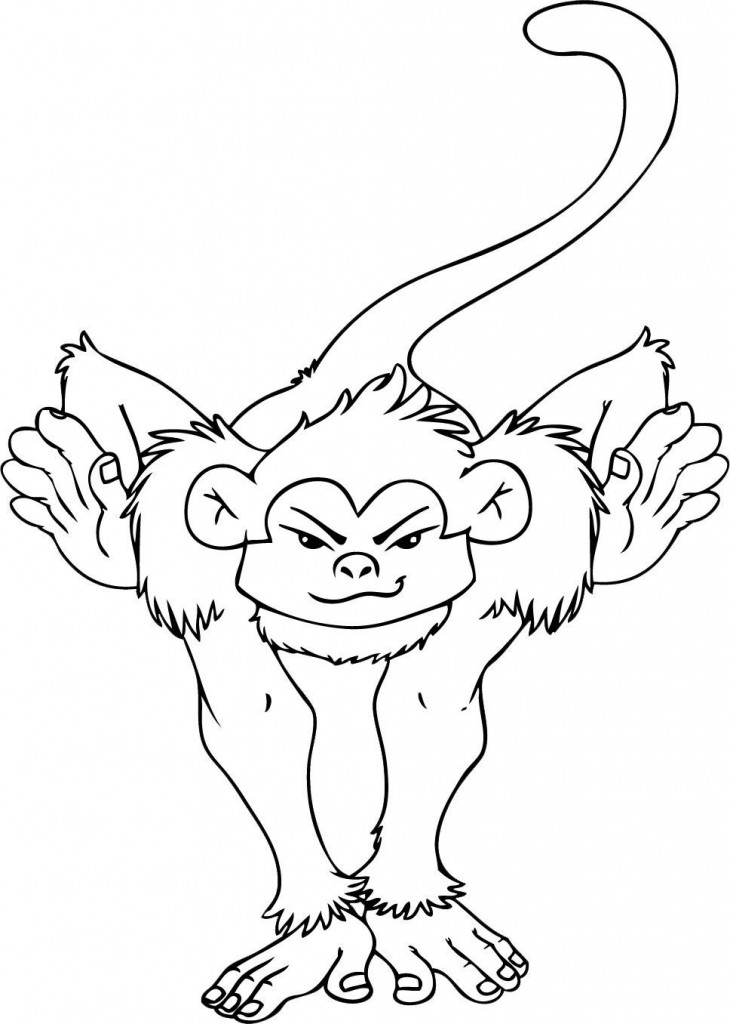 Coloring Pages Of Baby Jungle Animals