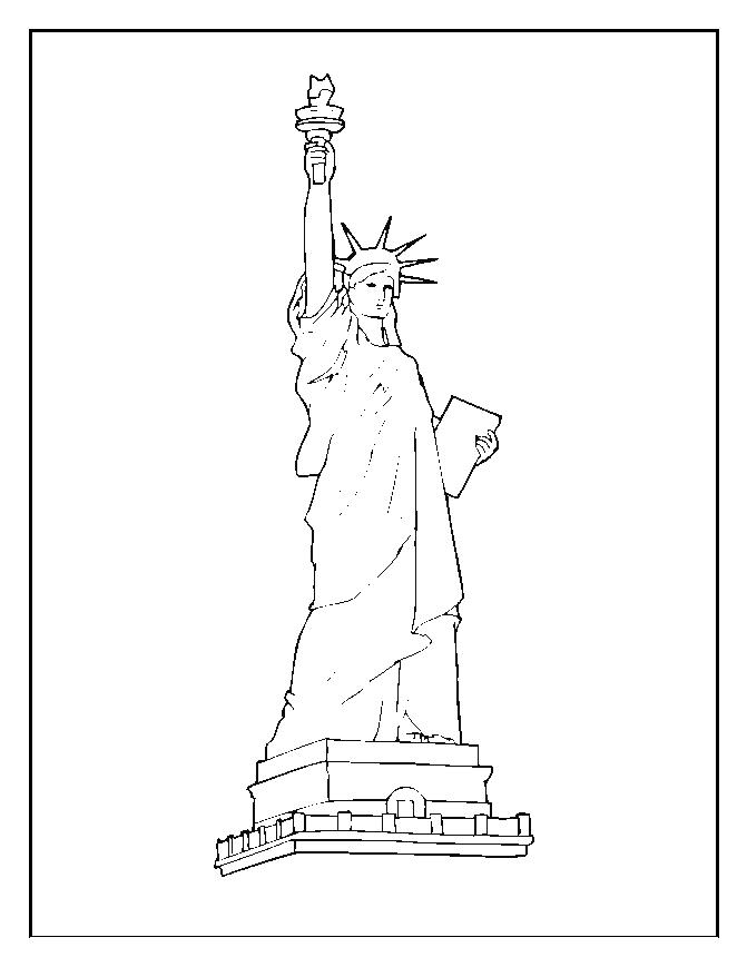Statue of liberty coloring pages for kids