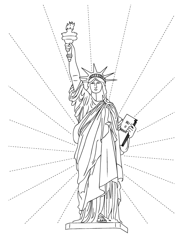Statue of Liberty Coloring Pages Photos