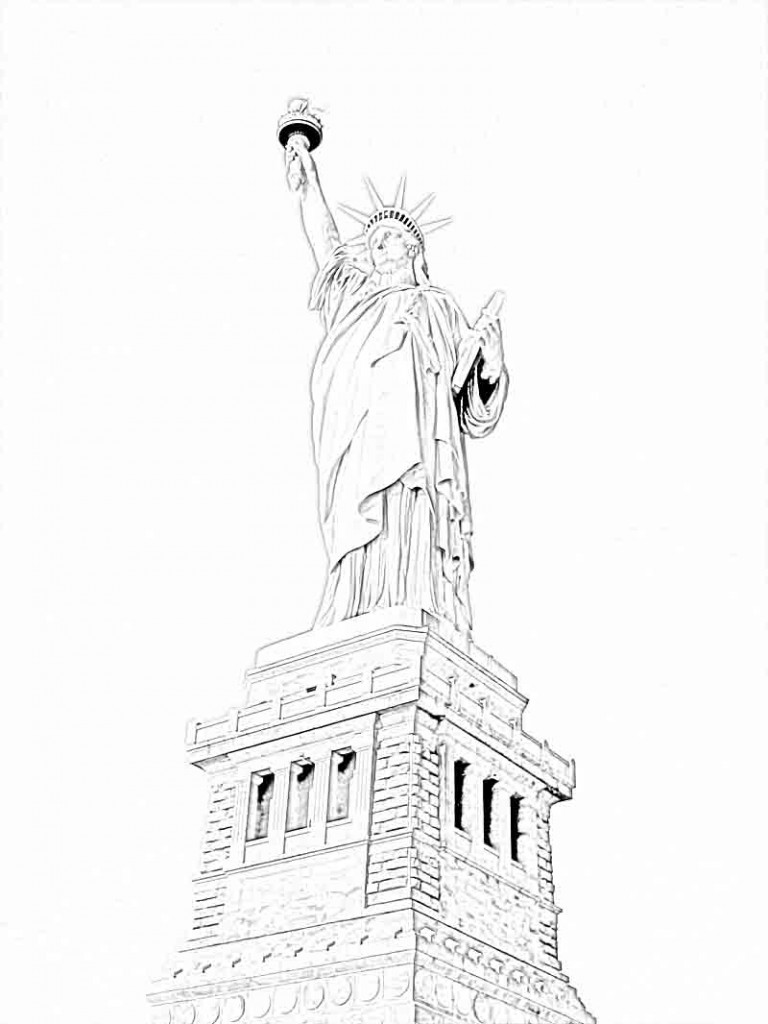 Statue of Liberty Coloring Pages Pictures