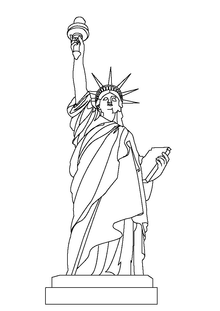 picture relating to Printable Statue of Liberty Template named Absolutely free Printable Statue of Freedom Coloring Webpages For Youngsters