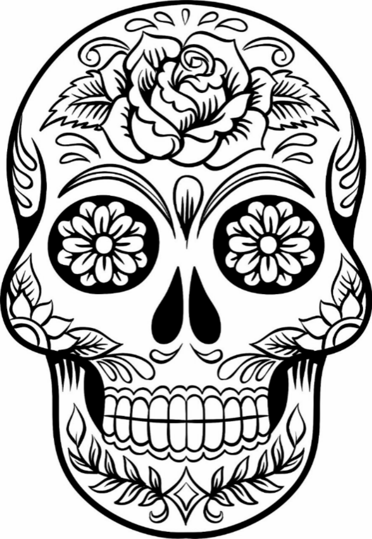 Wild image throughout printable skulls
