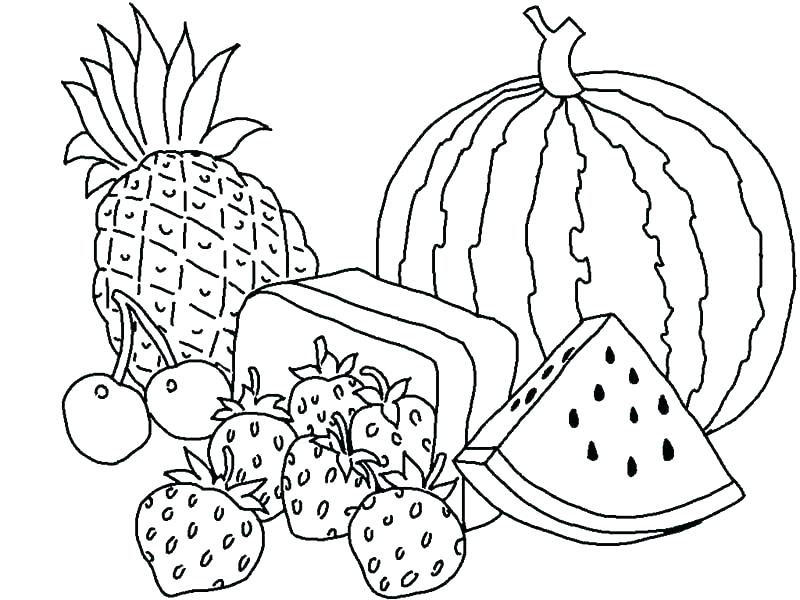 graphic regarding Printable Fruit Pictures named Totally free Printable Fruit Coloring Internet pages For Little ones