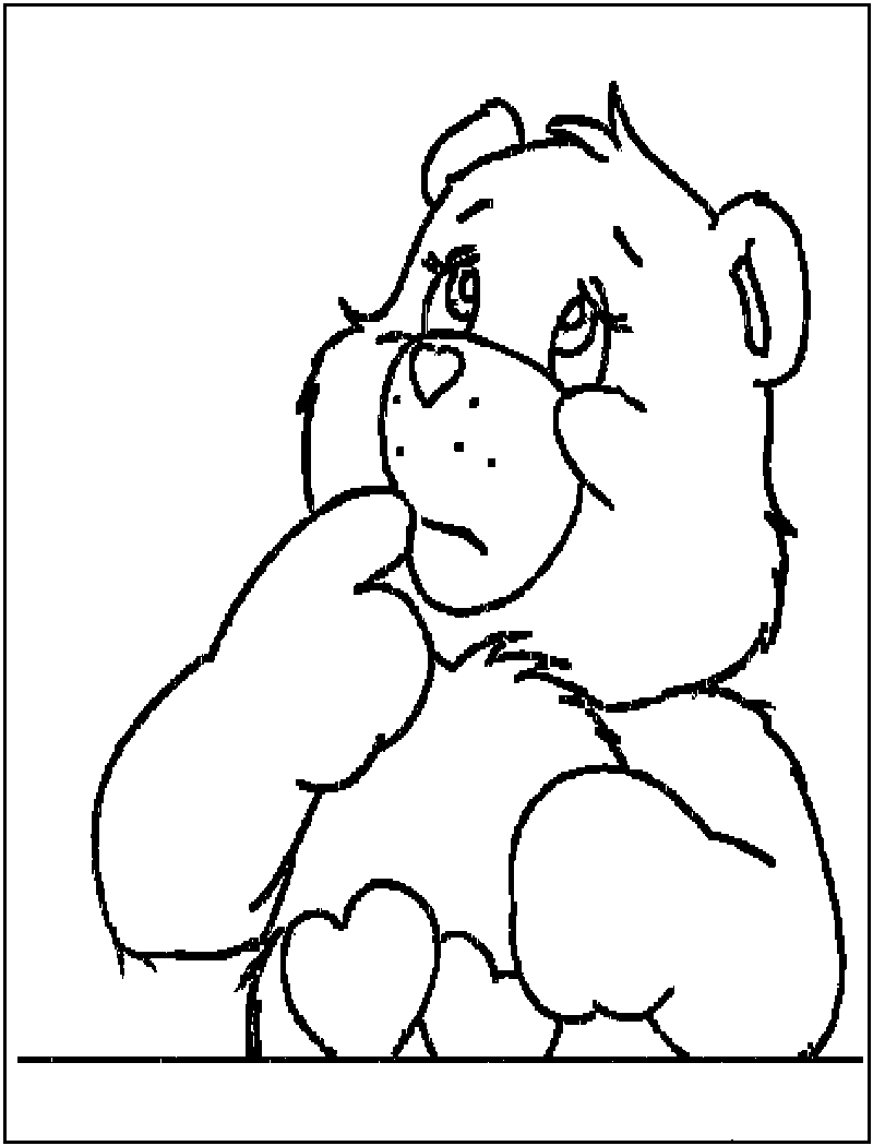 Free printable bear coloring pages for kids for Coloring page teddy bear