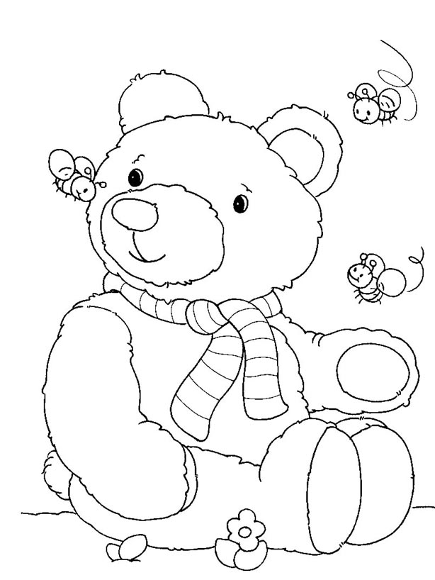 teddy bear coloring pages free printable - free printable bear coloring pages for kids