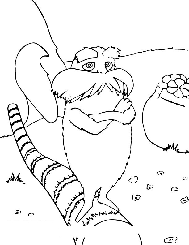 The Lorax Coloring Page