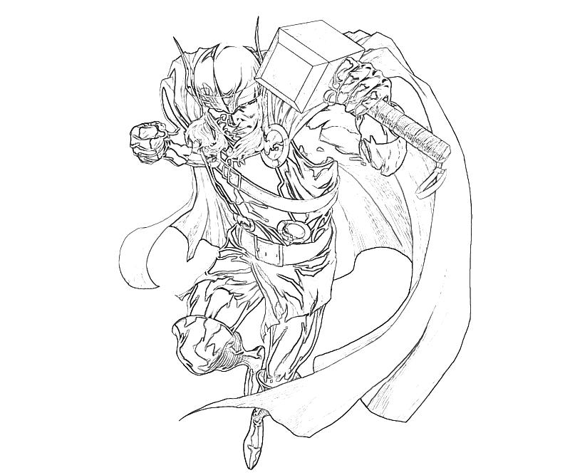 adult marvel coloring pages - free printable thor coloring pages for kids