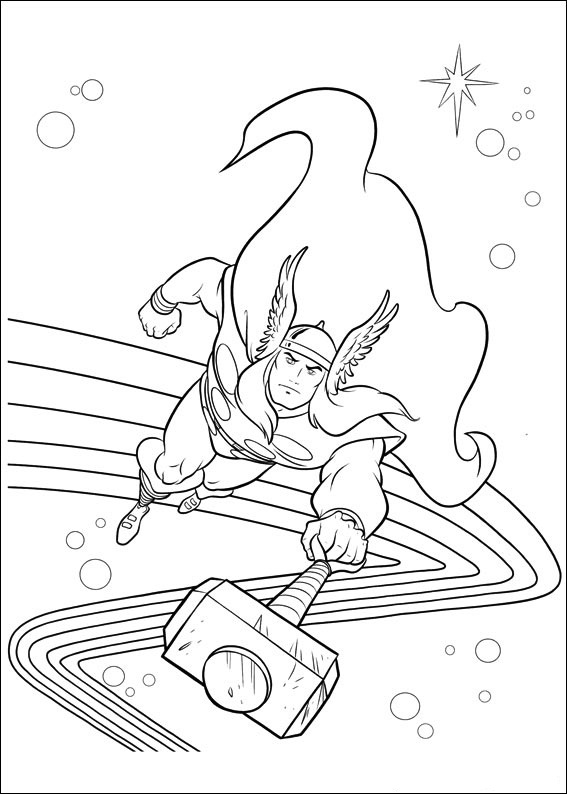 Thor Coloring Pages Online
