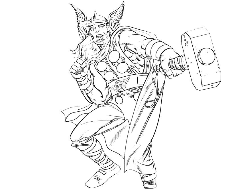 Thor Coloring Pages Photos