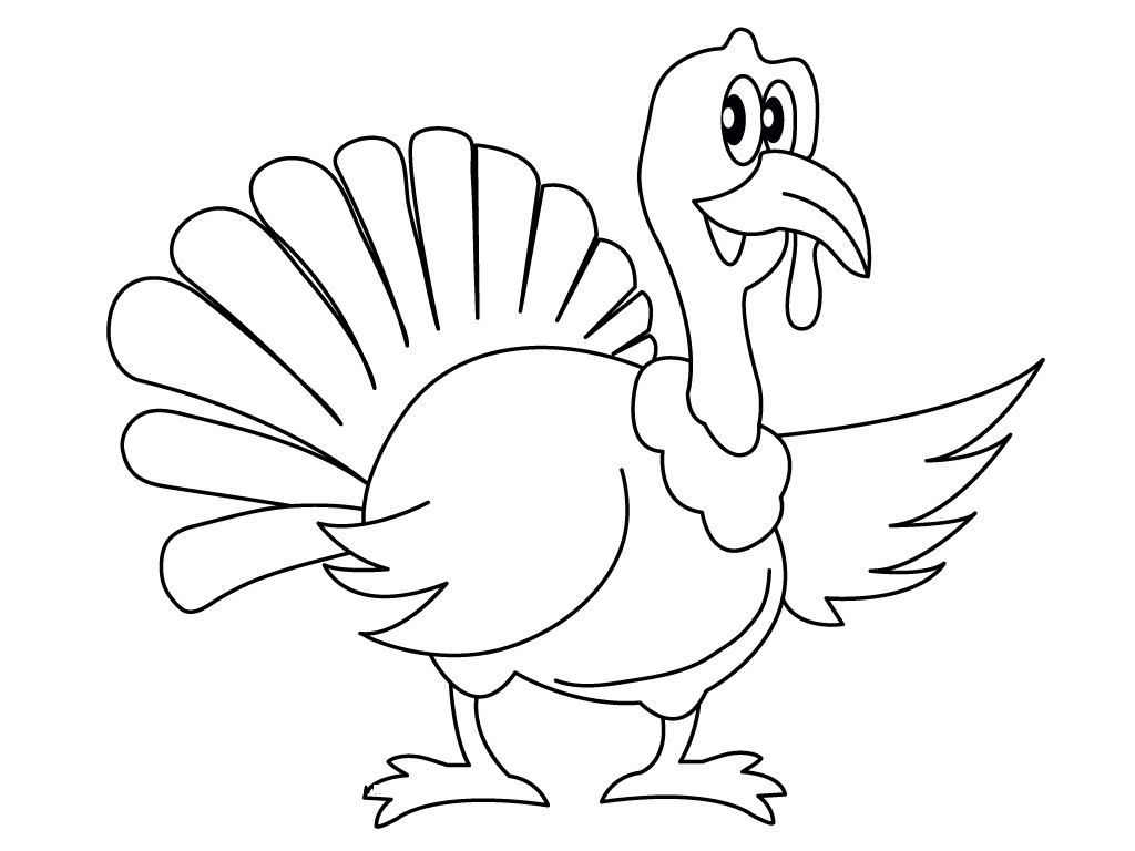 It is a picture of Impertinent Turkey to Color Free Printable