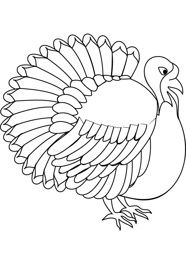 Superb image for printable turkeys coloring pages