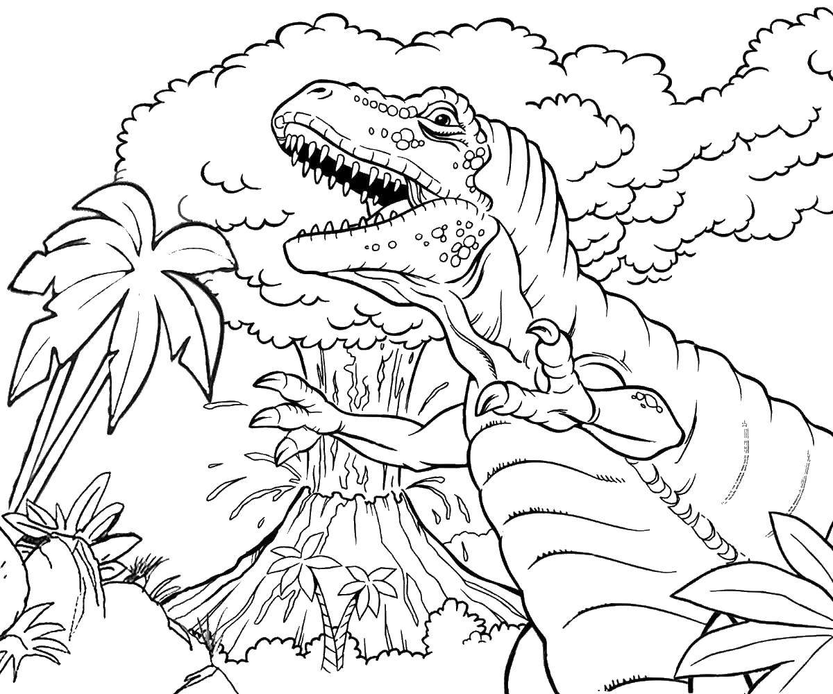 volcano printable coloring pages - photo#18