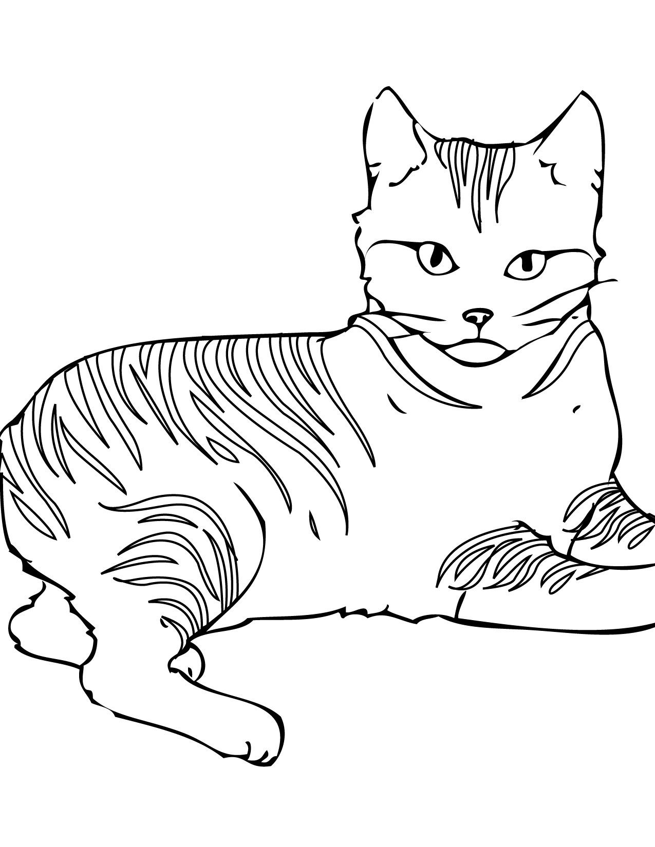 photograph relating to Cat Coloring Pages Free Printable identified as Free of charge Printable Cat Coloring Web pages For Small children