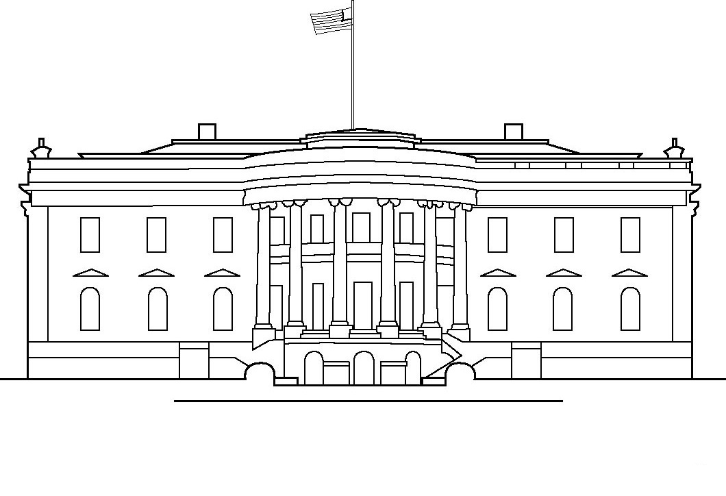White House Coloring Pages For Kids