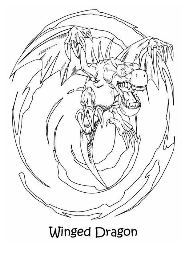 Winged Dragon - Yugioh Coloring Pages